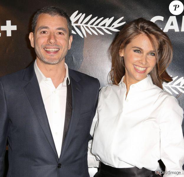Ali Baddou et Ophélie Meunier - Soirée Canal + à Mougins lors du 68e festival international du film de Cannes. Le 15 mai 2015