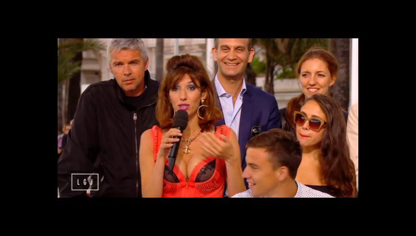 L'ex-Miss Météo Doria Tillier fait son retour en Marie Krystal à Cannes, à l'occasion du Festival international du film, le 17 mai 2015, dans Le Grand Journal