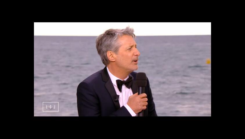 Antoine de Caunes, le 17 mai 2015, dans Le Grand Journal à Cannes