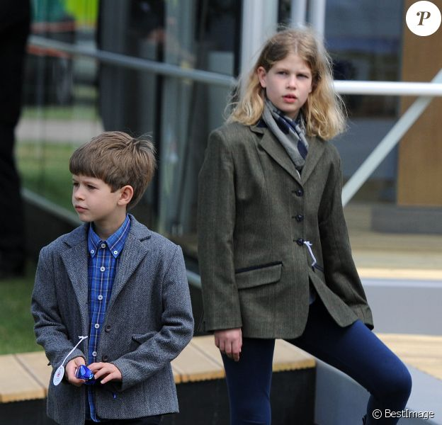 James, vicomte Severn et Lady Louise Windsor, les enfants du comte et de la comtesse de Wessex, au Royal Windsor Horse Show le 16 mai 2015