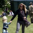 Autumn Phillips et sa fille Savannah au Royal Windsor Horse Show le 16 mai 2015