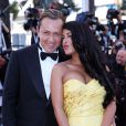 """Ayem Nour et son compagnon Vincent Miclet - Montée des marches du film """"Inside Out"""" (Vice-Versa) lors du 68e Festival International du Film de Cannes, le 18 mai 2015."""