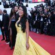 """Ayem Nour - Montée des marches du film """"Inside Out"""" (Vice-Versa) lors du 68e Festival International du Film de Cannes, le 18 mai 2015."""