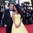 """Ayem Nour et son compagnon Vincent Miclet officialisent - Montée des marches du film """"Inside Out"""" (Vice-Versa) lors du 68e Festival International du Film de Cannes, le 18 mai 2015."""
