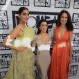 Sonam Kapoor, Eva Langoria et Andie MacDowell au corner L'Oréal Paris à l'hôtel Martinez. Cannes, le 18 mai 2015.