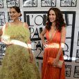 Sonam Kapoor et Andie MacDowell au corner L'Oréal Paris à l'hôtel Martinez. Cannes, le 18 mai 2015.