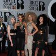 """Little Mix - Soirée des """"Brit Awards 2014"""" en partenariat avec MasterCard à Londres, le 19 février 2014"""