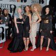 """Little Mix - Soirée des """"Brit Awards 2014"""" en partenariat avec MasterCard à Londres, le 19 février 2014."""