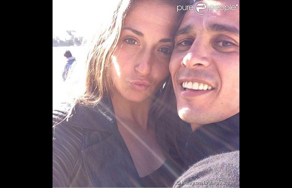Brahim Asloum et Clothilde de Bernardi, photo publiée sur le compte Instagram du boxeur le 2 avril 2015