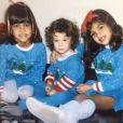 Kourtney, Khloé et Kim Kardashian enfants, bien avant la télé-réalité et la célébrité. Photo publiée le 25 décembre 2014.