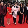 """Panos H. Koutras, Haifaa Al-Mansour, Isabella Rossellini, Nadine Labaki, Tahar Rahim - Montée des marches du film """"Macbeth"""" lors du 68e Festival International du Film de Cannes, le 23 mai 2015."""