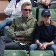 Denis Brogniart et son fils Dimitri à Roland-Garros à Paris, le 25 mai 2015