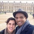 Michael Sam et son fiancé Vito Cammisano au château de Versaills, photo publiée sur son compte Instagram le 30 avril 2015