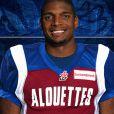 Michael Sam sous le maillot des Alouettes de Montréal