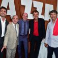 Fabrice Santoro, Jean Gachassin, Giuseppe Lavazza, vice-président de Lavazza, Mats Wilander et Toni Nadal - Lavazza fête ses 120 ans au Village de Roland-Garros à Paris, le 26 mai 2015.