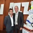 Guy Forget et Fabrice Santoro - Lavazza fête ses 120 ans au Village de Roland-Garros à Paris, le 26 mai 2015.