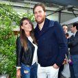 William Accambray et sa compagne Maeva Carter - Lavazza fête ses 120 ans au Village de Roland-Garros à Paris, le 26 mai 2015.