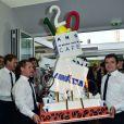 Illustration gâteau - Lavazza fête ses 120 ans au Village de Roland-Garros à Paris, le 26 mai 2015.