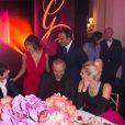 Exclusif - Thomas Dutronc, Eva Longoria, Nikos Aliagas et sa compagne Tina Grigoriou - Dîner du Global Gift Gala au profit de L'Unicef France Frimousses de Créateurs, de The Global Gift Foundation et The Eva Longoria Foundation, organisé au Four Seasons Hôtel George V à Paris, le 25 mai 2015.
