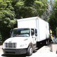 Exclusif - Des camions de déménagement ont été vus devant le domicile de Nicole Richie et de Joel Madden Le 08 mai 2015