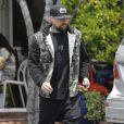 Joel Madden est allé déjeuner avec un ami chez Fred Segal à West Hollywood, le 16 mai 2015