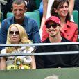 Zlatan Ibrahimovic a assisté avec sa compagne Helena Seger à la victoire de Novak Djokovic au second tour des Internationaux de France à Roland-Garros, le 28 mai 2015 à Paris