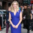 "Reese Witherspoon arrive au ""Late Show With David Letterman"" à New York, le 5 mai 2015."