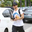 "Ryan Phillippe à la sortie de son cours de gym à West Hollywood, le 14 mai 2015 ""The Lincoln Lawyer"" actor Ryan Phillippe turns the tables on the paparazzi as he leaves the gym on May 14, 2015 in West Hollywood14/05/2015 - Hollywood"