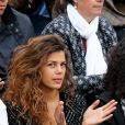 Noura, compagne de Jo-Wilfried Tsonga - People dans les tribunes lors du tournoi de tennis de Roland Garros à Paris le 29 mai 2015.