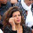 Noura, la jolie compagne de Jo-Wilfried Tsonga - People dans les tribunes lors du tournoi de tennis de Roland Garros à Paris le 29 mai 2015.