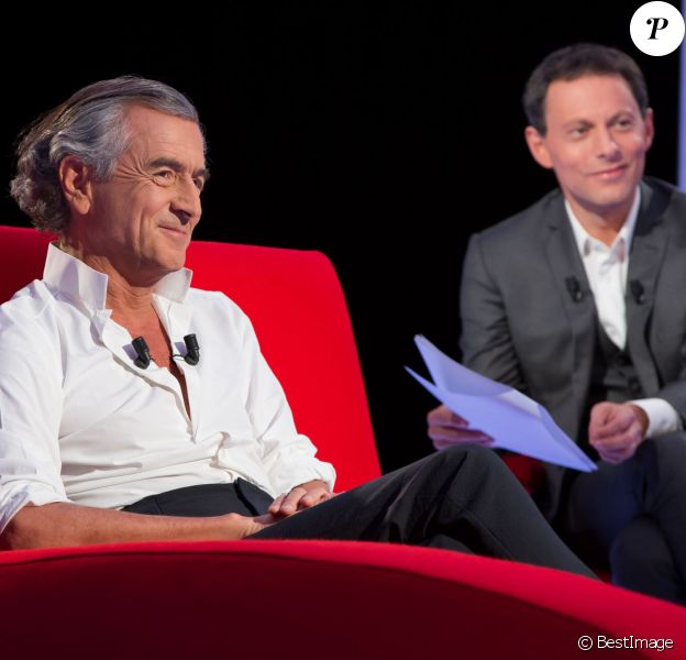 Exclusif - Enregistrement de l'émission Le Divan présentée par Marc-Olivier Fogiel avec Bernard-Henri Lévy en invité, le 22 mai 2015.