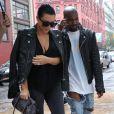 Kim Kardashian, enceinte, et son mari Kanye West à New York, le 1er juin 2015.