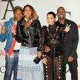 Pharrell Williams, Helen Lasichanh, Kim Kardashian et Kanye West assistent aux CFDA Fashion Awards 2015 à l'Alice Tully Hall, au Lincoln Center. New York, le 1er juin 2015.