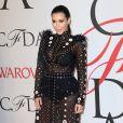 Kim Kardashian, enceinte, assiste aux CFDA Fashion Awards 2015 à l'Alice Tully Hall, au Lincoln Center. New York, le 1er juin 2015.