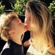 Marisa Miller a ajouté une photo avec son fils Gavin à son compte Instagram, le 22 mars 2015