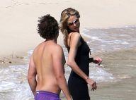 Heidi Klum au soleil : Pause amoureuse sur la plage avec son Vito