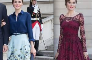 Letizia d'Espagne : Reine du look à Paris, devant François Cluzet et Narjiss