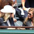 Alice Taglioni et Anne Gravoin lors du tournoi de tennis de Roland-Garros à Paris le 3 juin 2015