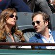 Anne Gravoin et Renaud Capuçon lors du tournoi de tennis de Roland-Garros à Paris le 3 juin 2015
