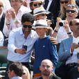 Nasser Al Khelaifi (président du PSG) lors du tournoi de tennis de Roland-Garros à Paris le 3 juin 2015