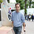 Grand corps malade lors du tournoi de tennis de Roland-Garros à Paris le 3 juin 2015