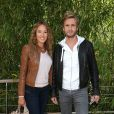 Elodie Fontan et Philippe Lacheau lors du tournoi de tennis de Roland-Garros à Paris le 3 juin 2015