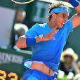 Rafael Nadal - Victoire de Novak Djokovic sur Rafael Nadal en quarts de finale du tournoi de Roland Garros (7/5-6/3-6/1) à Paris, le 3 juin 2015.