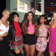 Paula Van Oppen, Natasha Slayton, Emmalyn Estrada, Simone Battle, Lauren Bennett lors de l'ouverture de la Sugar Factory à Hollywood, le 13 Novembre 2013