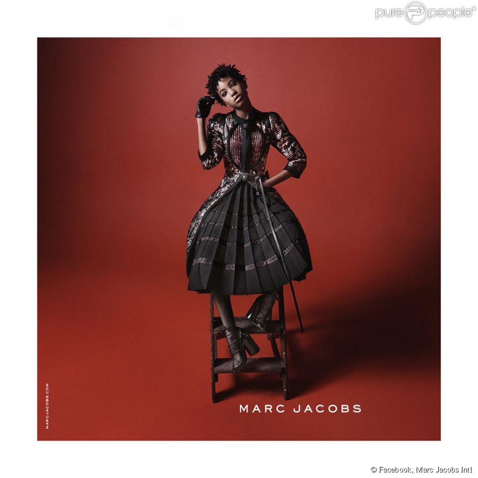 Willow Smith apparaît sur la campagne publicitaire automne-hiver 2015 de Marc Jacobs. Photo par David Sims.