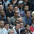 JoeyStarr au Stade de France pour la rencontre France - Belgique à Saint-Denis le 7 juin 2015