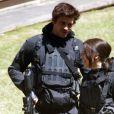 """Jennifer Lawrence et Liam Hemsworth sur le tournage du troisième film """"Hunger Games : La révolte"""" à Noisy-le-Grand le 15 mai 2014."""