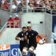 Jerry Collins lors de la Coupe du monde à l'occasion du match entre la Nouvelle-Zélande et la Roumanie, au Stadium de TOulouse, le 29 septembre 2007