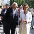 Marisol Touraine et son père Alain Touraine - Arrivées au mariage de Pierre Moscovici et Anne-Michelle Bastéri à la mairie du VIème arrondissement à Paris. Le 13 juin 2015