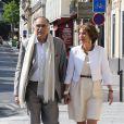 Marisol Touraine et son mari Michel Reveyrand de Menthon - Arrivées au mariage de Pierre Moscovici et Anne-Michelle Bastéri à la mairie du VIème arrondissement à Paris. Le 13 juin 2015